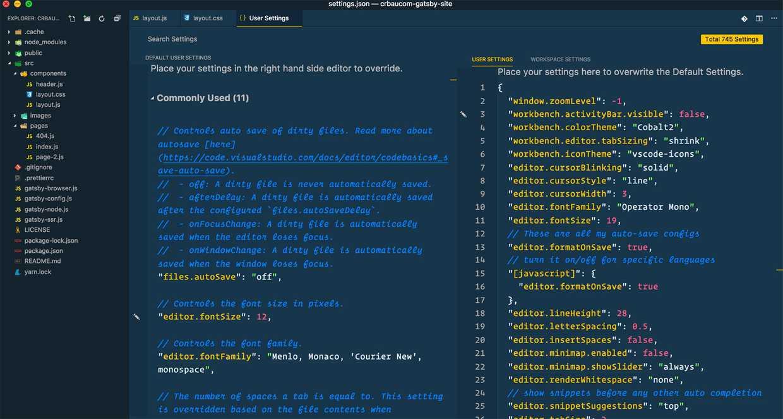 My Visual Studio Code Setup | Chris Baucom Portfolio